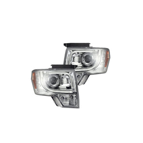 RECON 264190CLC Ford F150 & RAPTOR 09-14 PROJECTOR HEADLIGHTS w/ Ultra High Power Smooth OLED HALOS & DRL