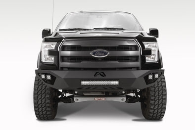 Fab Fours Vengeance 2015-2017 Ford F-150 Front Pre-Runner Bumper - NO GUARD - Matte Black Powder Coat FF15-D3251-1
