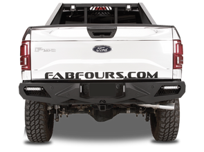 Fab Fours Vengeance Series Rear Sensor Bumper in Black Powder Coat - FF09-E1751-1