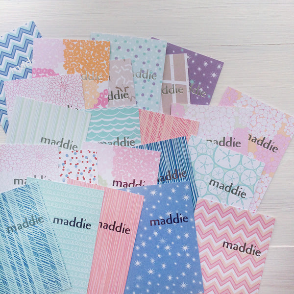 assorted mix & match personalized foil stamped notecards