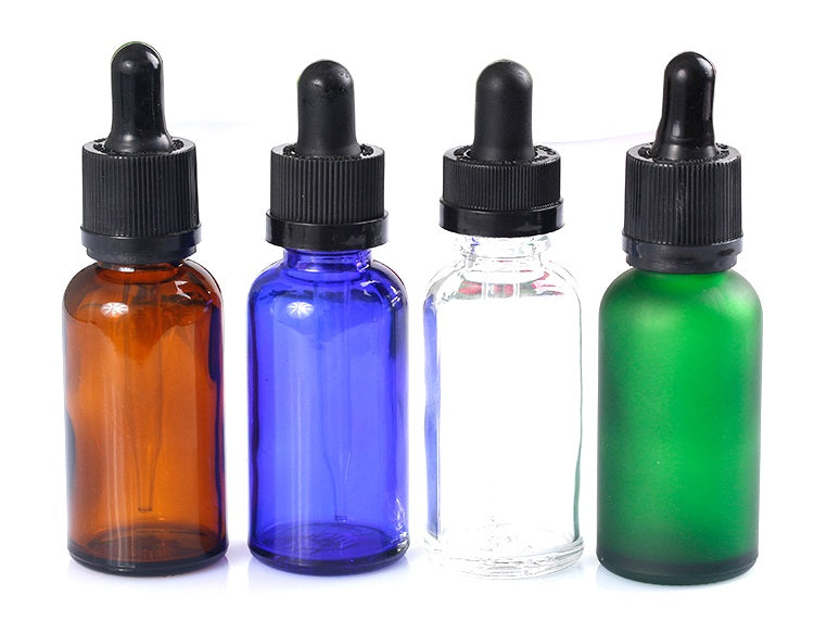 Glass Dropper Bottles with Tamper Evident and Child Resistant Cap