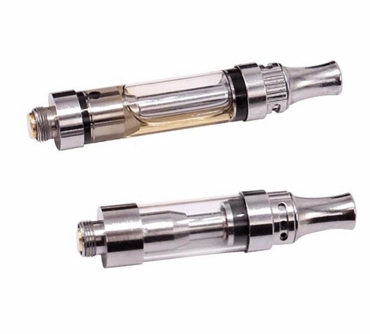 5 Piece Pack Buttonless Ceramic Vape Cartridge With Adjustable Air Holes - 0.5ml