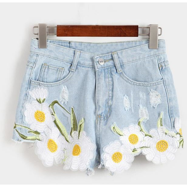 Vintage High Waist Daisy Shorts