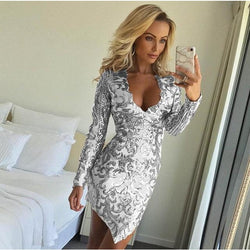 Eva Sequin Party Dress