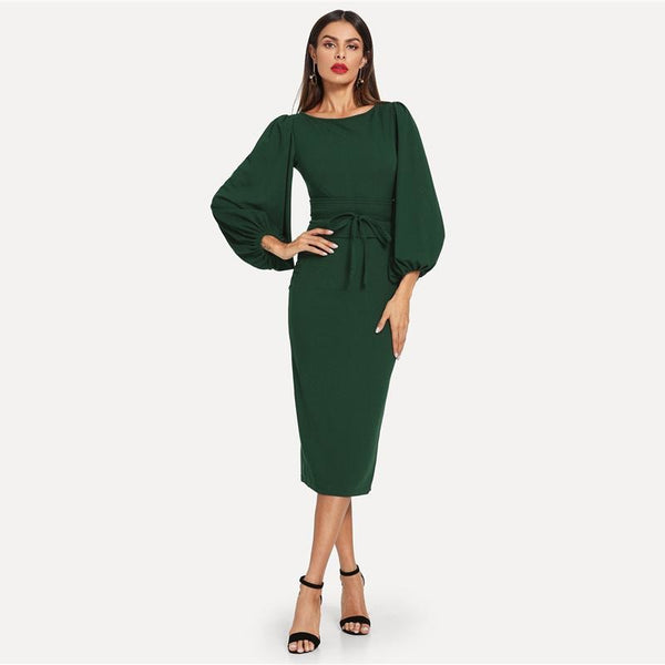 Sadie Lantern Sleeve Dress
