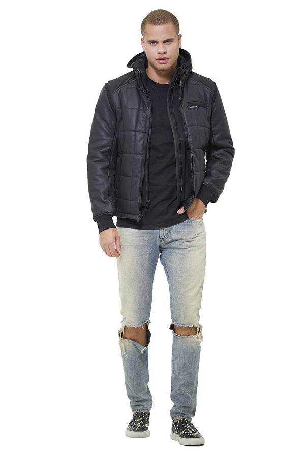 Men's Grid Quilted Bomber Jacket (And Vest) - Members Only Official