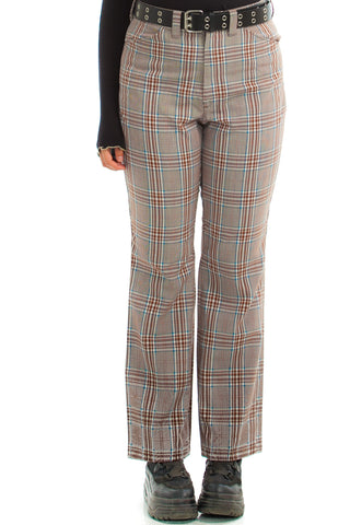 Vintage 70's Groove is in the Heart Plaid Pants - L