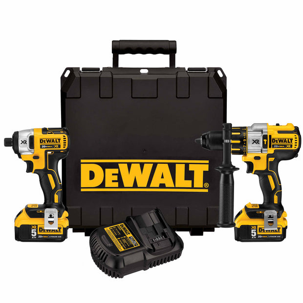 DeWalt DCK296P2 20V MAX XR LI-ION Hammerdrill and Impact Driver Kit with 5AH Battery