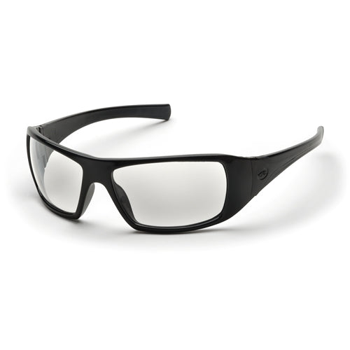 Pyramex SB5610D Goliath Eyewear Clear Lens with Black Frame