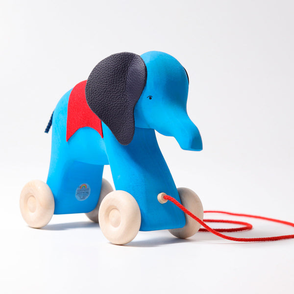 GRIMM'S Elephant Pull Along Blue