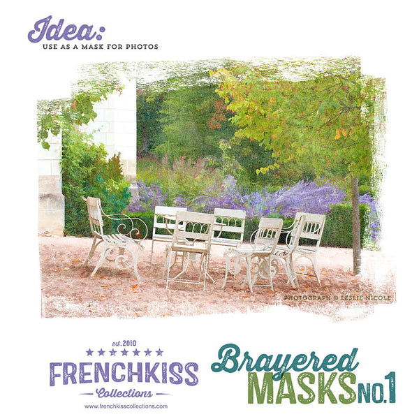 French Kiss Collections Brayered Digital Clipping Masks No. 1 usuage example.