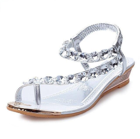 Women Rhinestone Waterproof Summer Shoes