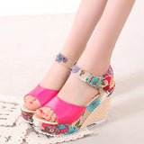 Zapatos Mujer 2018 Sandals Summer Platform Wedges Casual Shoes