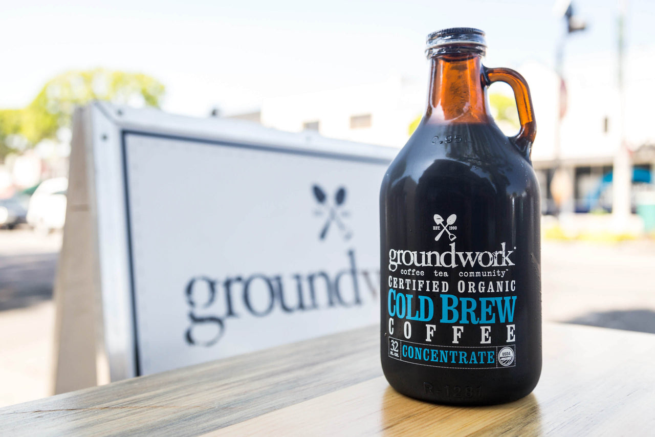 growler of Groundwork Cold Brew