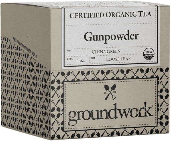 Gunpowder Certified Organic Loose Leaf Green Tea