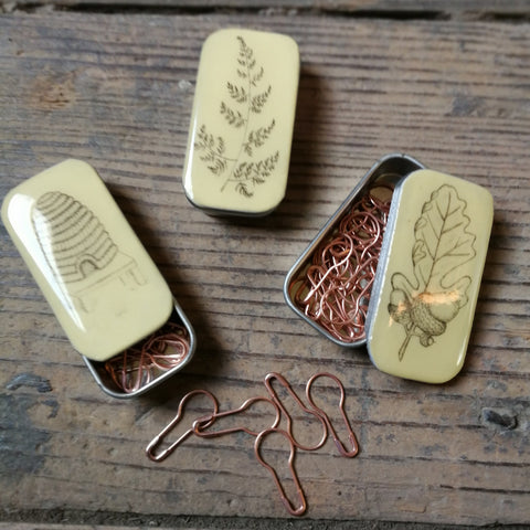 Tiny Tin by Leigh Shepherd - with or without copper bulb pins