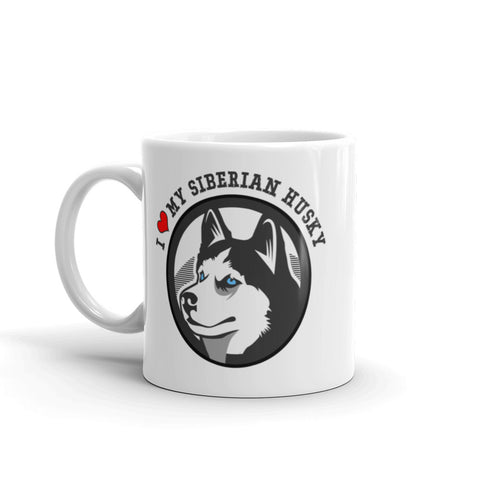 """I Love My Siberian Husky"" Coffee Mug"