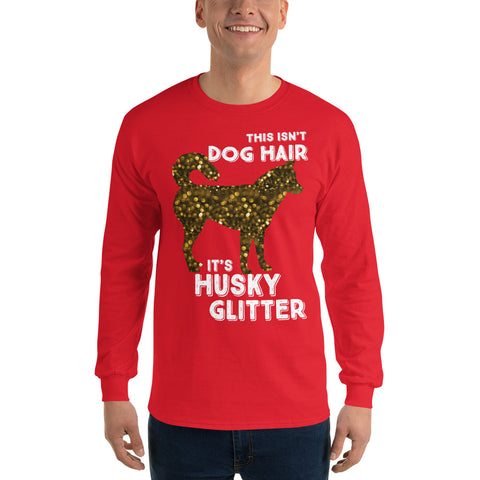 "Men's ""Husky Glitter"" Long Sleeve T-Shirt"