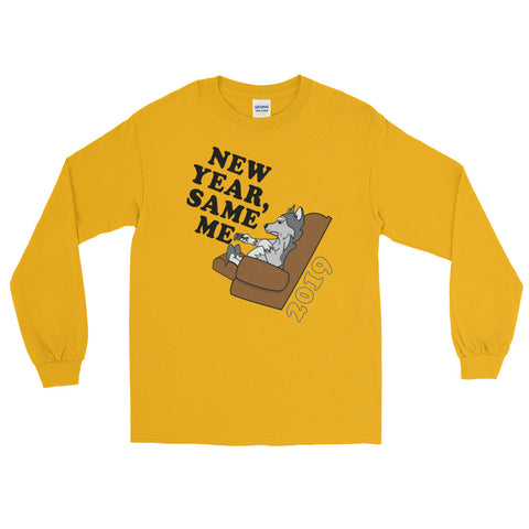 "Men's ""New Year, Same Me"" Long Sleeve T-Shirt"