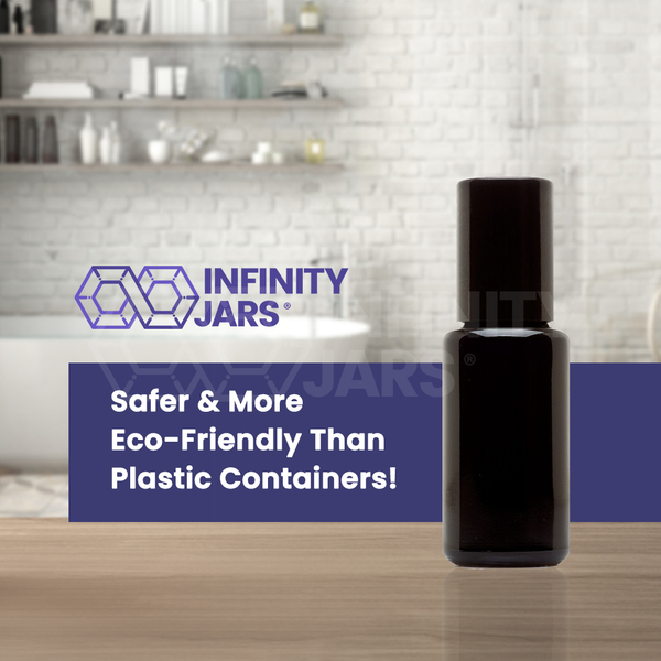 15 ml Glass Roller Applicator Bottle - InfinityJars