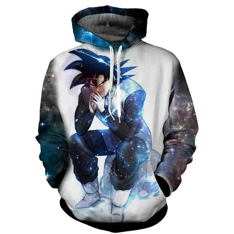 Dragon Ball 3D Printing blue  Hoodies
