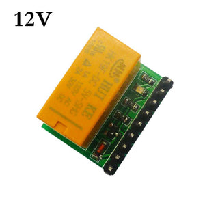 Mini DC 12V DPDT Double-Throw Relay Module Anti-polarity Switch Board Motor LED