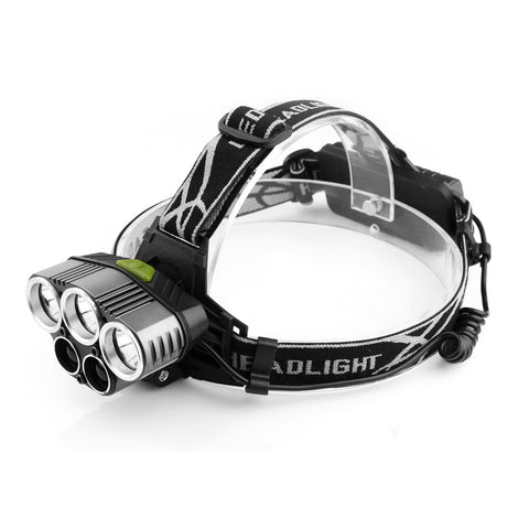 LED Headlamp 18650 Rechargeable 6 Light Modes