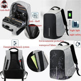 Anti-theft Notebook Bag with USB Port