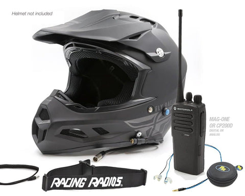 Racing Radios Pit Crew Helmet Kit Package