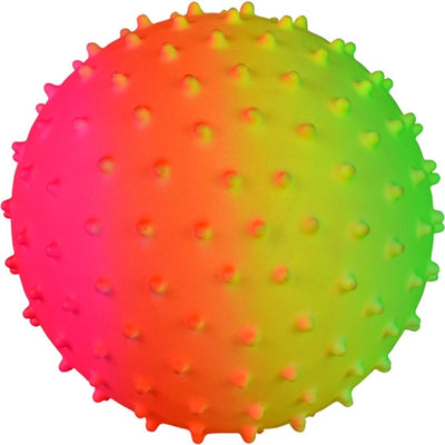 Inflatable Rainbow Knobby Balls - 5''