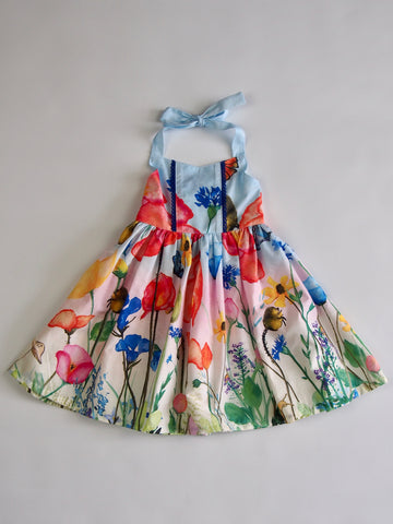 'Abigail' Dress in Watercolour Floral