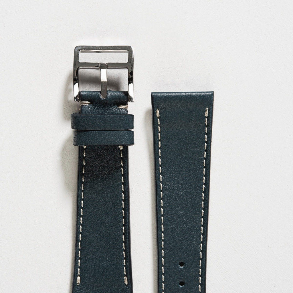 Petrol Blue Leather Watch Strap