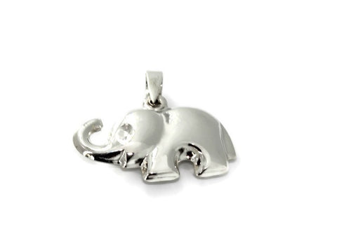 Silver Happy Elephant