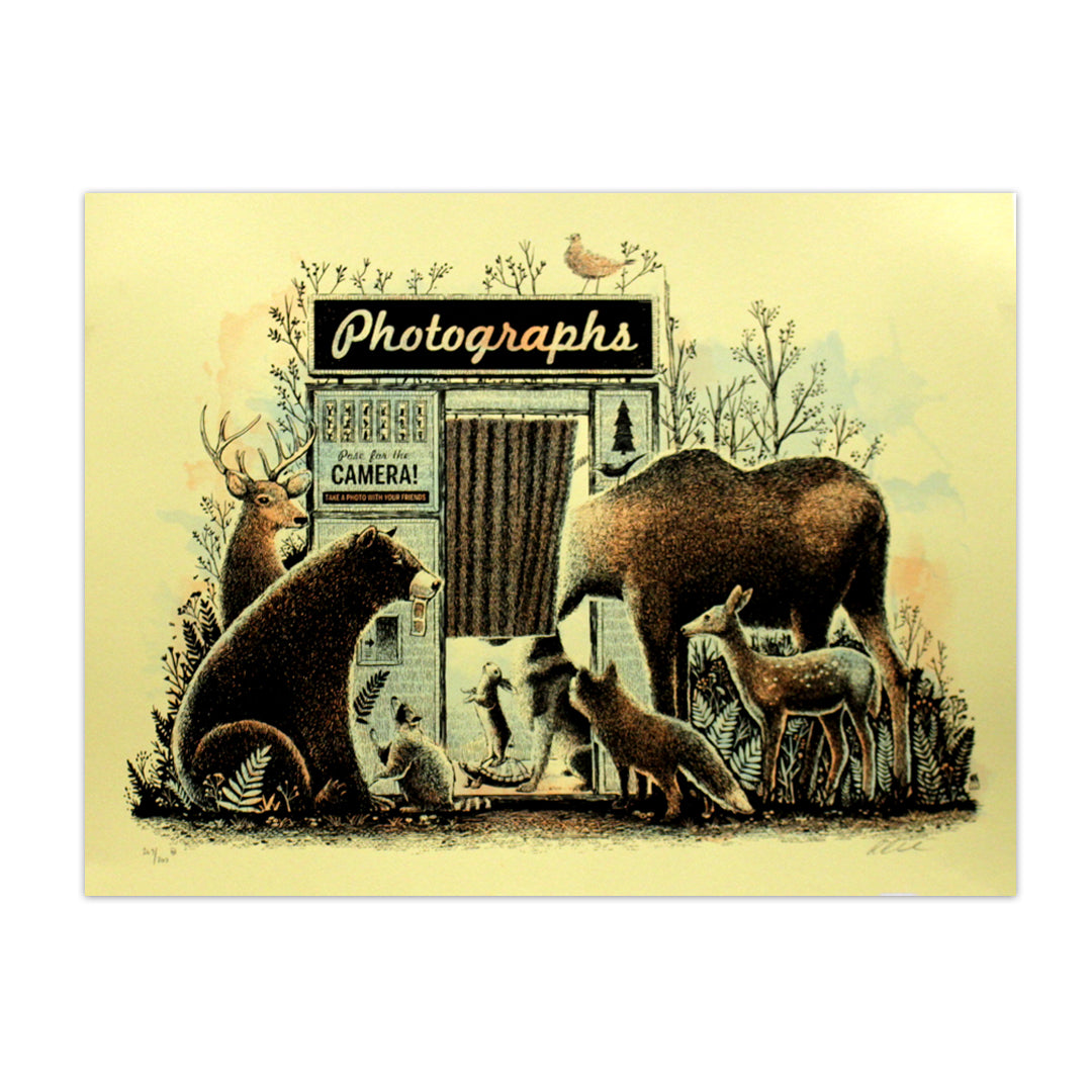 Photo Booth Animals Art Print by Methane Studios (Unframed)