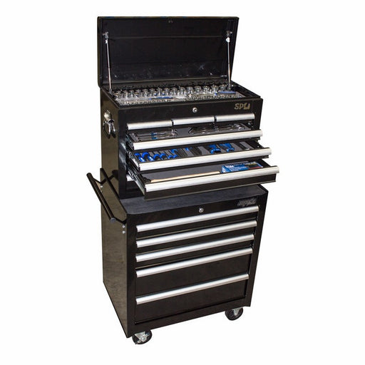 SP Tools TOOLKIT 202PC METRIC/SAE - BLACK 12 DRAWER CUSTOM SP50113
