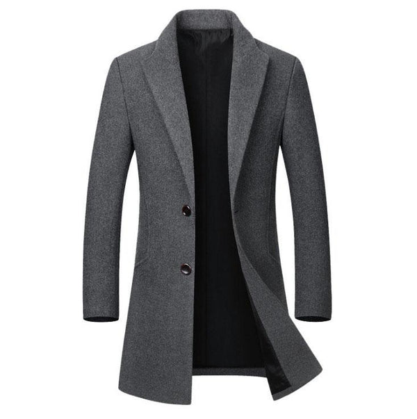 The Hampton Topcoat Grey