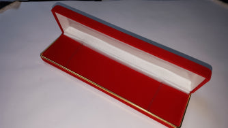 VELVET BRACLET BOX W/GOLD TRIM RED 12 PCS-Transcontinental Tool Co
