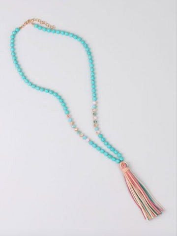 Happy Trails Necklace | Turquoise