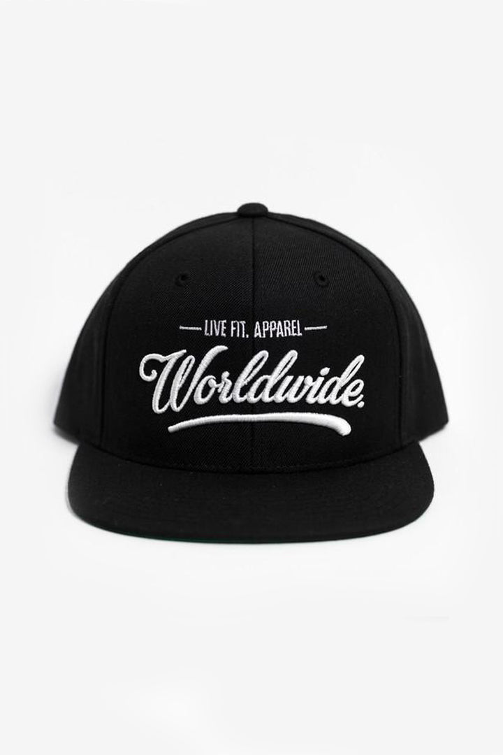WORLDWIDE HITTERS SNAPBACK – BLACK/WHITE