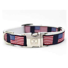 Stars n Stripes Dog Collar and Leash Set by Diva Dog