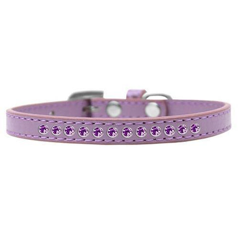 Purple Crystal Puppy Lavender Dog Collar