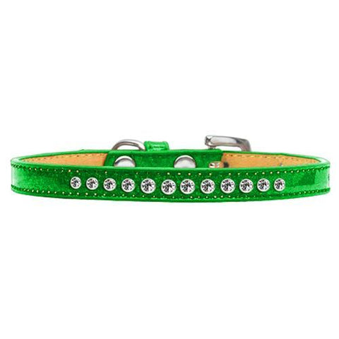 Crystal Puppy Ice Cream Dog Collar - Green
