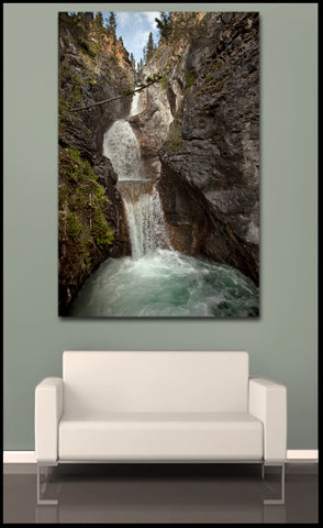 """Silverton Falls: The Impossible Angle"" Fine Art Gallery Wrapped Canvas Print"