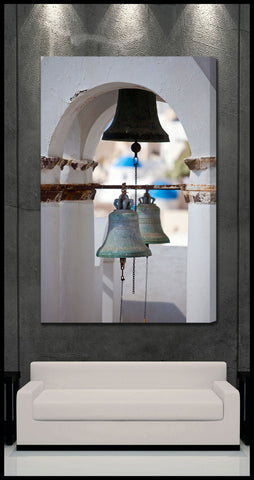 """Church Bells of Oia"" Greek Islands Fine Art Gallery Wrapped Canvas Print"