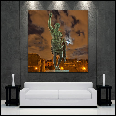 """God of Rome"" Square Fine Art Gallery Wrapped Canvas Print"