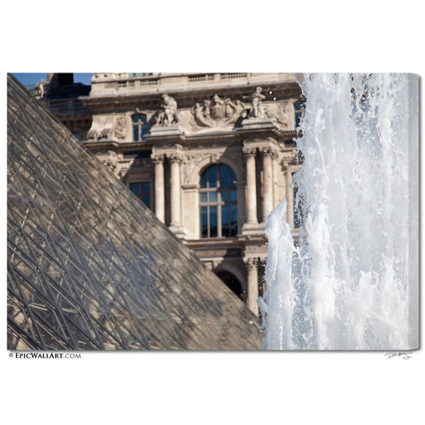 """Louvre Fountain"" Paris Fine Art Gallery Wrapped Canvas Print"