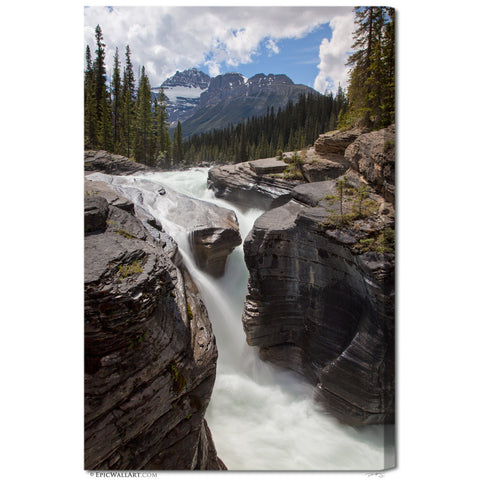 """Mistaya Canyon Falls"" Banff Fine Art Gallery Wrapped Canvas Print"