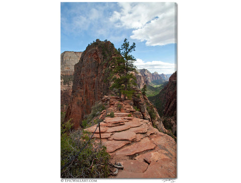 """Angel's Landing"" Zion Fine Art Gallery Wrapped Canvas Print"