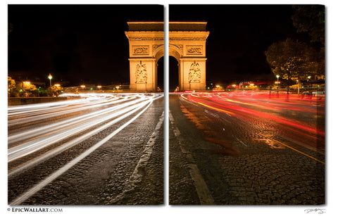 """The Arc"" Paris 2-Piece Fine Art Canvas Wall Display"