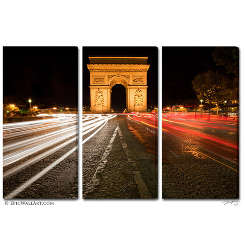 """The Arc"" Paris 3-Piece Fine Art Canvas Wall Display"